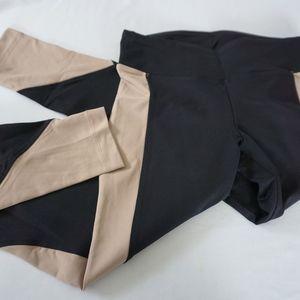 KORAL Black & Nude Exercise Leggings Mid Curve